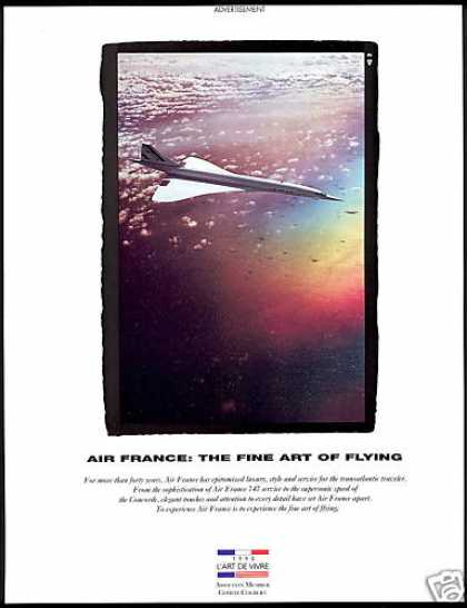 Air France Airlines SST Concorde Photo (1990)