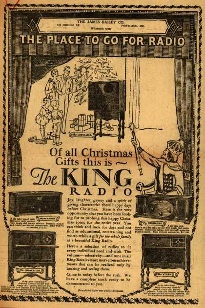 King Radio's Various – Of all Christmas gifts this is... The KING radio (1927)
