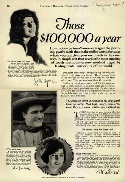Pepsodent Company's tooth paste – Those $100,000 a year (1924)