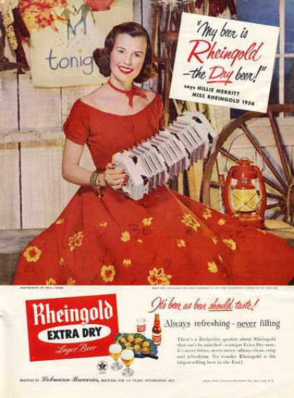 Miss Rheingold Beer Accordian (1956)