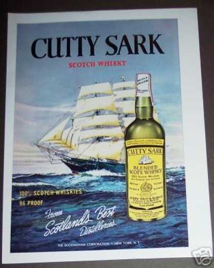 Cutty Sark Scotch Whisky Ship Art (1961)