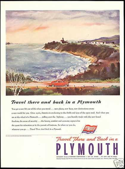 Plymouth Car Travel Vintage Color (1946)