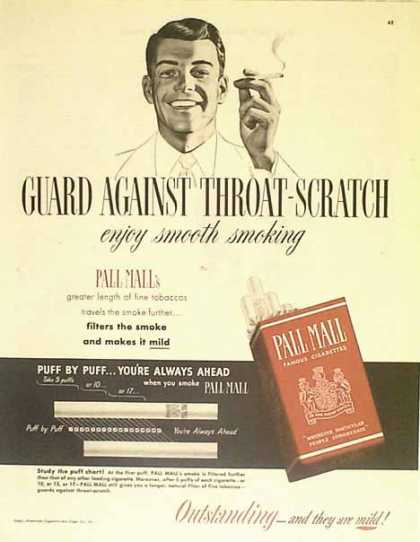 Pall Mall Cigarettes – Red and Grey – Sold (1949)