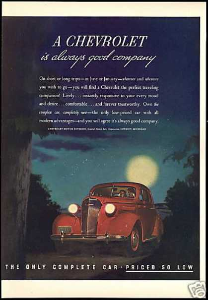 Beautiful Red Chevrolet Car Vintage (1937)