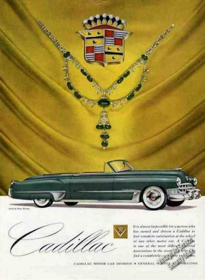 Cadillac Nice Glamour Shot With Jewels (1949)