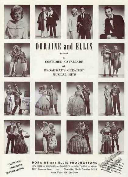 Doraine & Ellis Photos (14) Broadway Hits (1967)