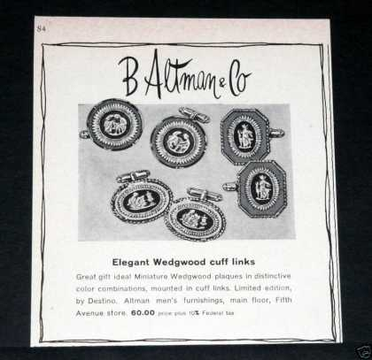 B. Altman, Wedgewood Cuff Links (1964)