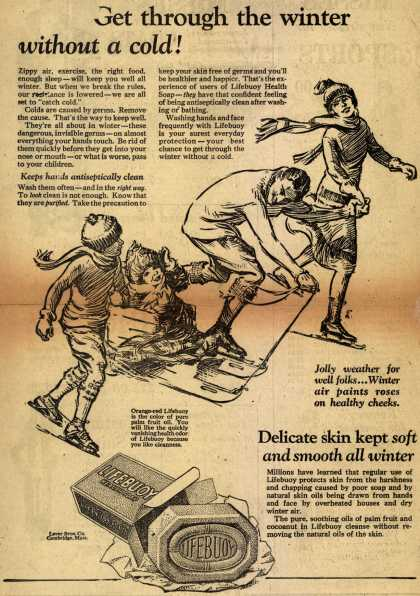 Lever Brothers Company's Lifebuoy Health Soap – Get through the winter without a cold (1925)