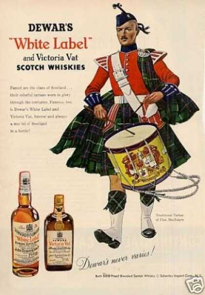 Dewar's Scotch Whisky Ad Clan Macintyre (1953)