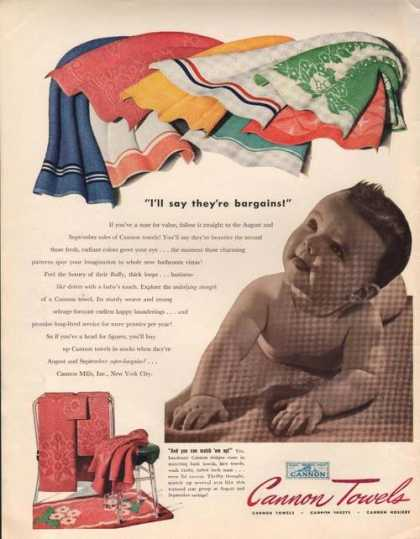 Cannon Towels They're a Bargain (1941)