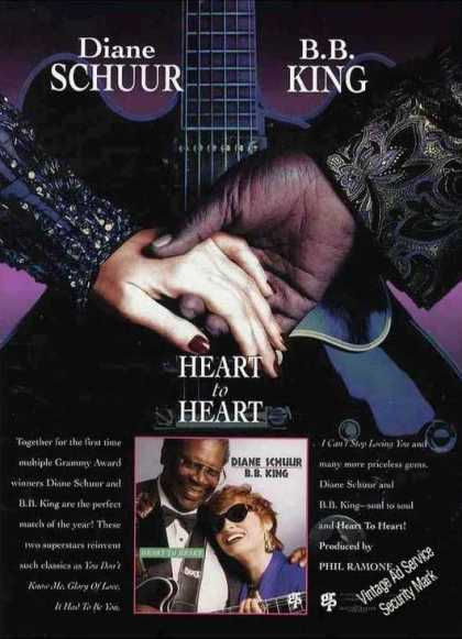 "Diane Schuur & B B King ""Heart To Heart"" Album (1994)"