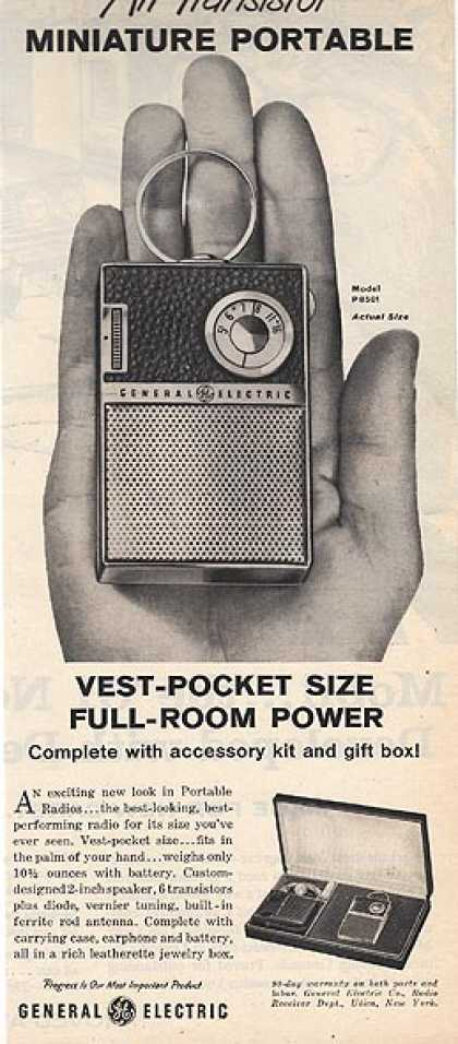General Electric's Model P8501 All-Transistor Minature Portable radio (1960)