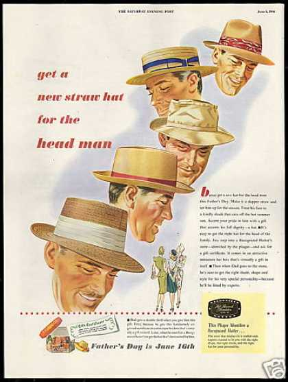 Father's Day Straw Hat Recognized Hatter (1946)