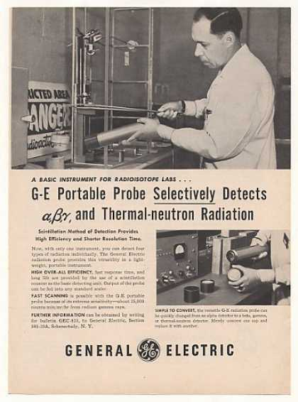GE General Electric Portable Radiation Probe (1955)