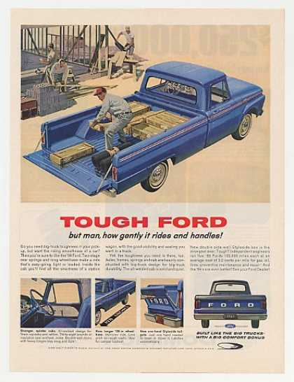 Ford Custom Cab Pickup Truck Tough Gentle Ride (1964)
