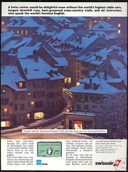 Switzerland Berne Swissair American Express (1986)