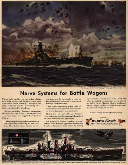 Western Electric's Radio – Nerve Systems for Battle Wagons (1944)