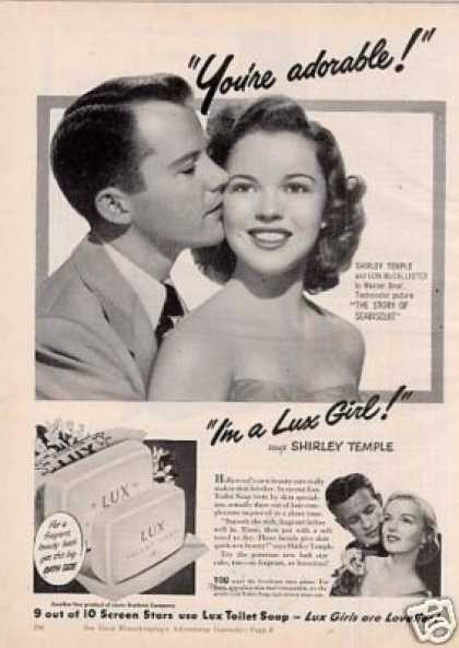 Lux Soap Ad Shirley Temple/lon Mccallister (1949)