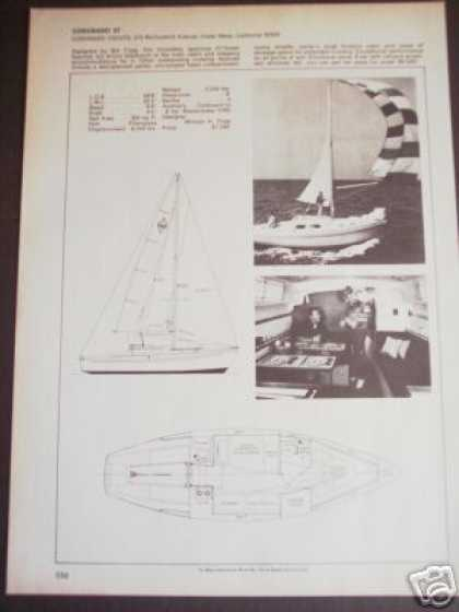 Coronado 27 Bill Tripp Sailboat Boat Spec Page (1971)