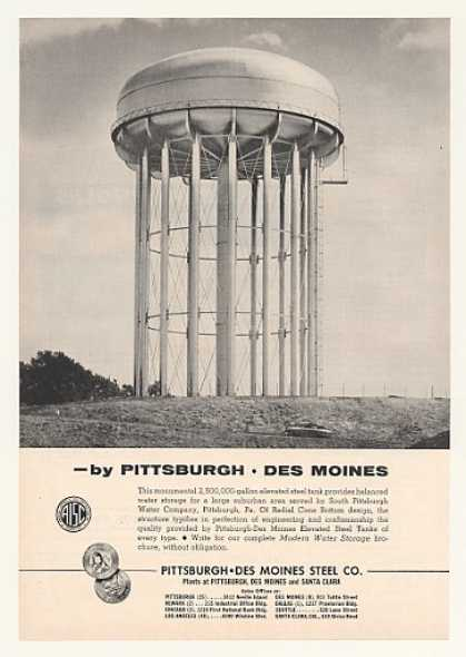 Elevated Water Tank Pittsburgh-Des Moines Steel (1954)