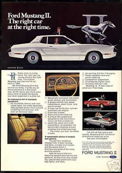 Ford Mustang II Ghia Hardtop 2+2 Photo Car (1974)