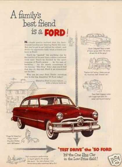 "Ford Car Ad ""A Family's Best Friend... (1950)"