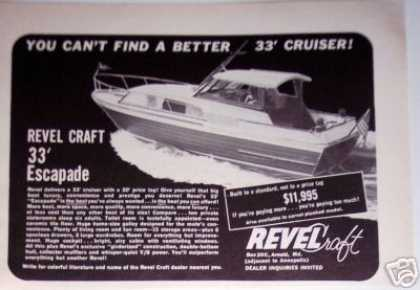 Revel Craft 33' Cruiser Escapade Boat (1965)