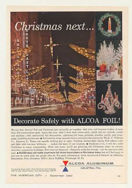 Alcoa Aluminum Foil City Christmas Decorations (1960)