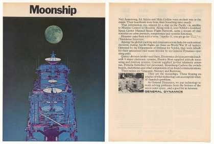 General Dynamics Moonship NASA Apollo 2-Page (1969)