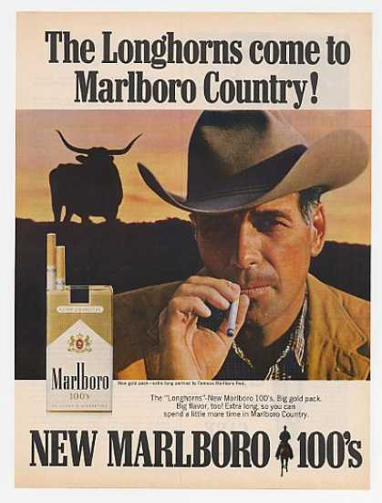 Longhorns Come to Marlboro Country Man 100's (1967)