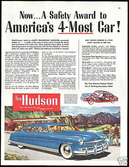 Blue Hudson America's 4 Most Car Art (1950)