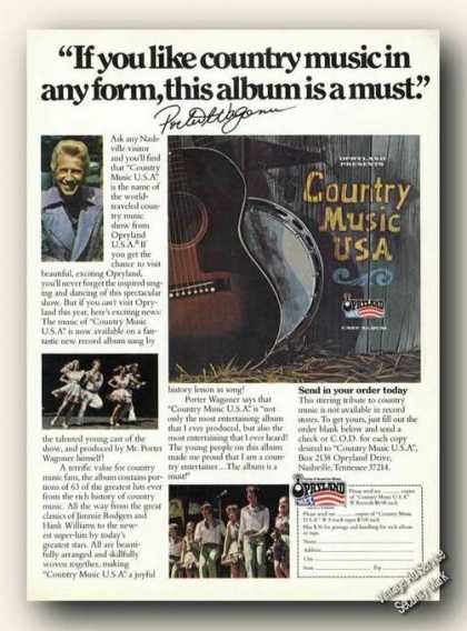 Porter Waqoner Photo Country Music Usa (1978)