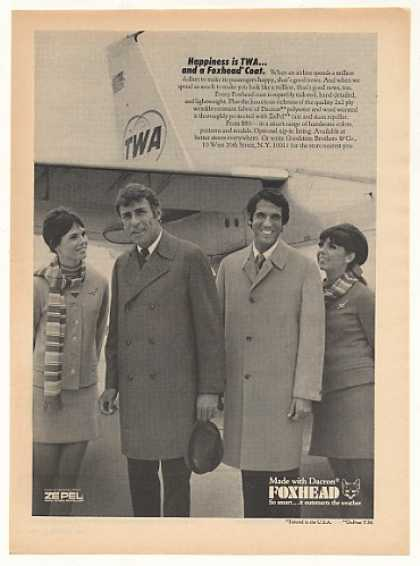 TWA Airlines Stewardess Foxhead Coats Photo (1969)