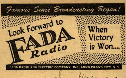 Fada Radio's Radio – Famous Since Broadcasting Began (1945)