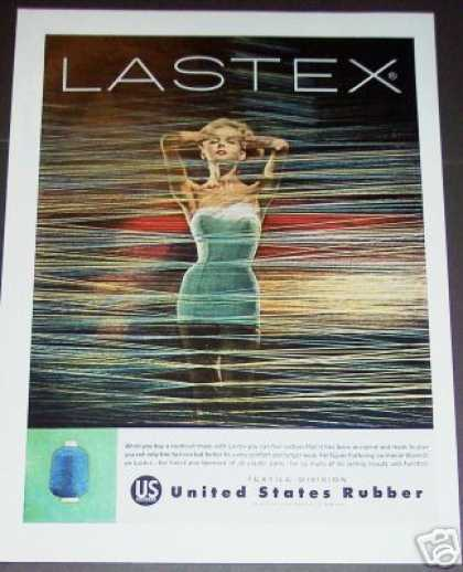 Sexy Swimsuit Model Lastex Rubber (1958)