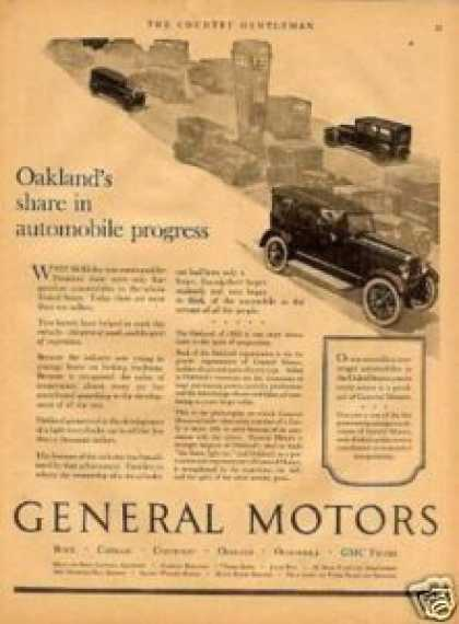 General Motors Ad Oakland Car (1923)