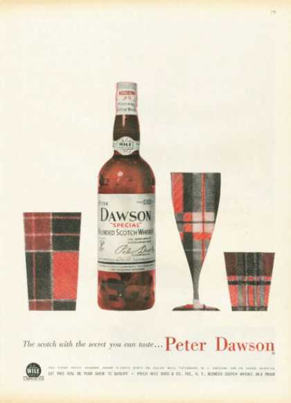 Peter Dawson Scotch Whisky Print Plaid (1958)
