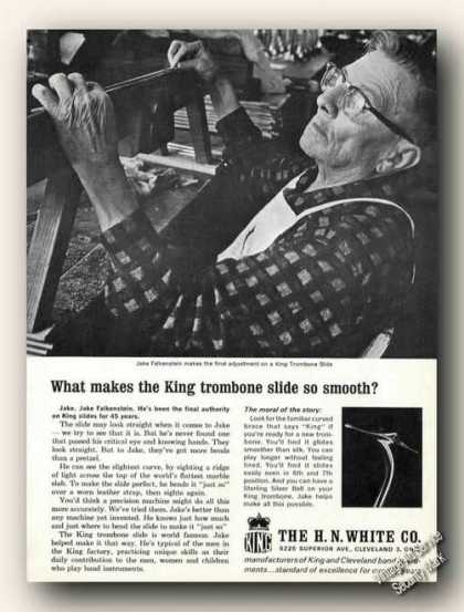 King Trombone Jake Falkenstein Craftsman Photo (1963)