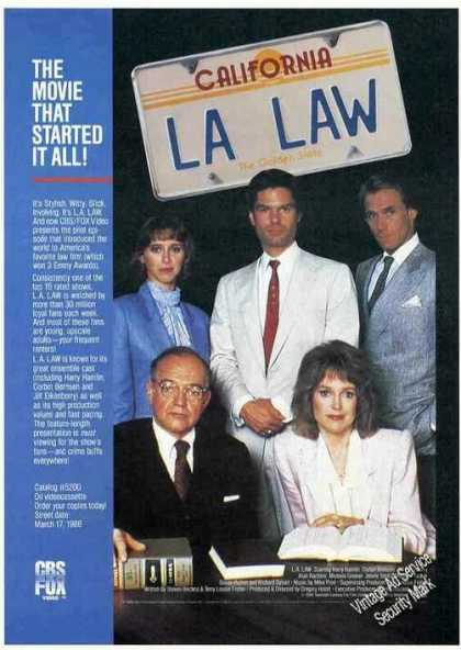 L. A. Law Move Promo Collectible (1988)