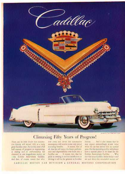 Cadillac Convertible Car – White Wall Tires – Sold (1952)