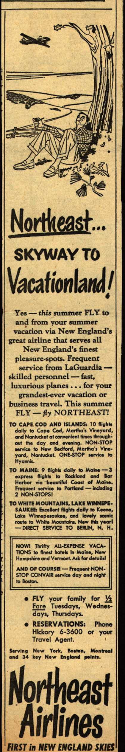 Northeast Airline's Vacation Travel – Northeast... Skyway to Vacationland (1951)