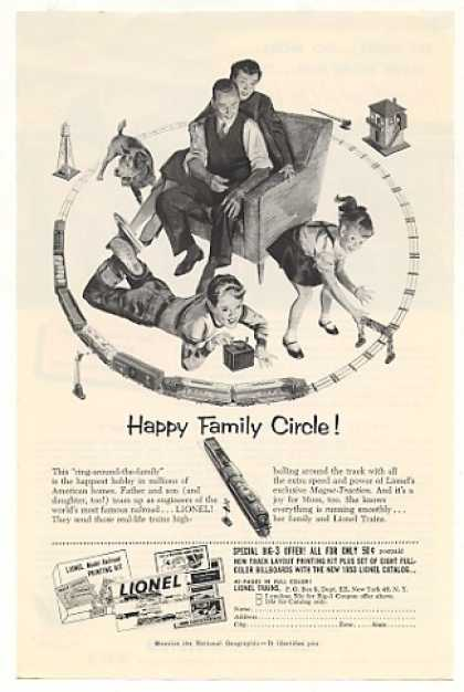 Lionel Trains Happy Family Circle (1953)