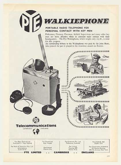 Pye Walkiephone Portable Radio Telephone (1955)
