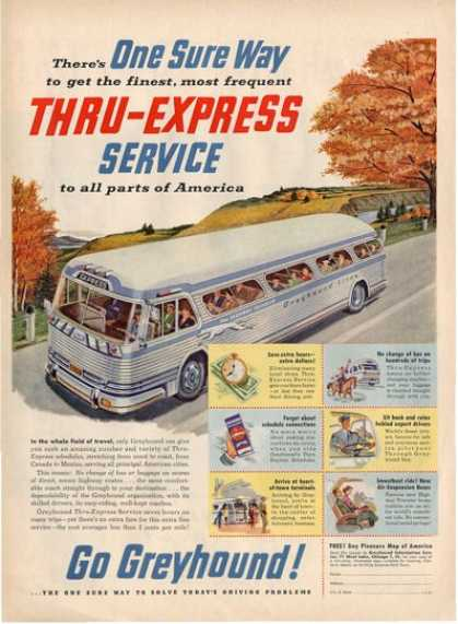 Greyhound Bus Line Countryside T (1953)