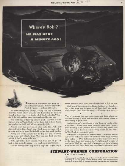 Stewart-Warner Corporation's War Bonds – Where's Bob? He was here a minute ago (1943)
