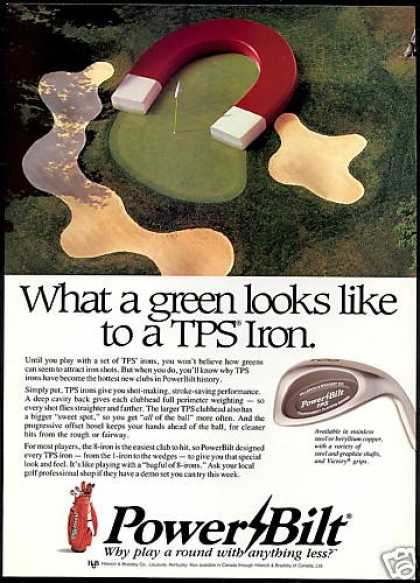 Powerbilt TPS Golf Clubs Green Magnet (1990)