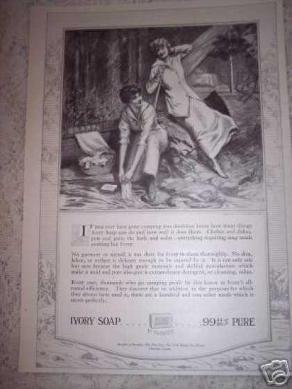 Pure Ivory Soap Retro Art Camping (1917)