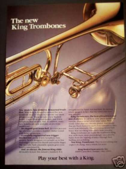 King Musical Instruments New Trombones Photo (1980)