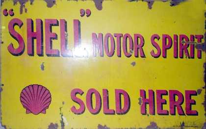 Shell Motor Spirit Sign