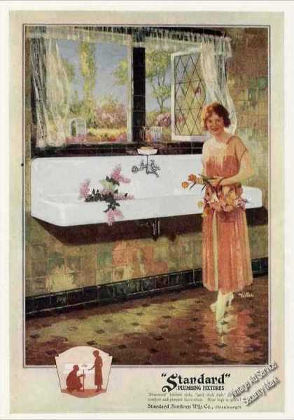Standard Plumbing Fixtures Kitchen Sink Color (1924)